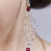 Silver Earrings with Red glass beads